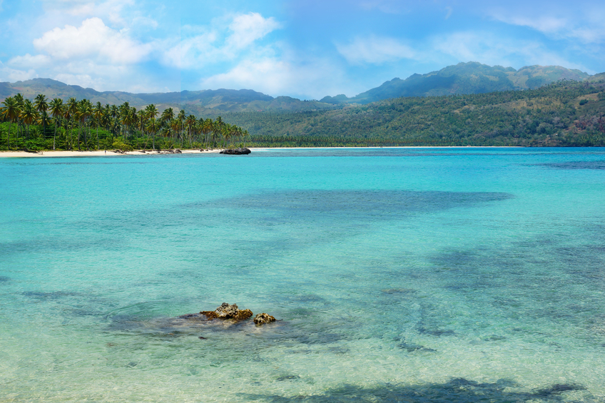 Virgin beach, Samana peninsula, Dominican Republic , playa rincon
