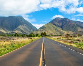 Road in Maui, Hawaii.