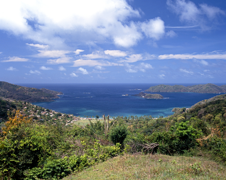 View overlooking Speyside, Tobago, Trinidad and Tobago, Caribbean, West Indies