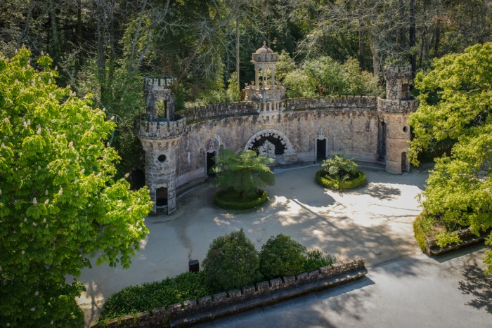 One of the surprising and enigmatic monuments of Landscape of Sintra,Quinta da Regaleira