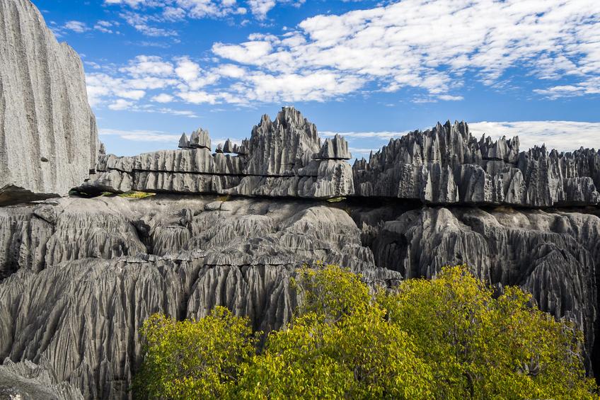 Tsingy de Bemaraha National Park. Unesco World Heritage in Madagascar.