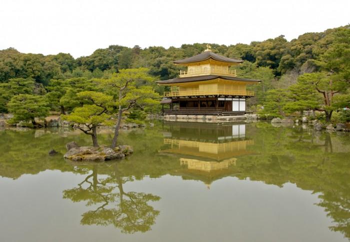 Kyoto golden pavilion in kyoto