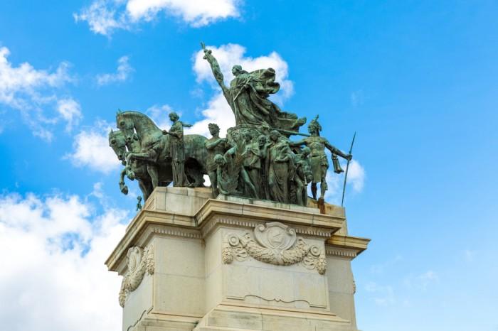 Independence Monument in Ipiranga, Sao Paulo, Brazil