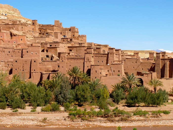 Clear day at Ait Benhaddou, Morocco