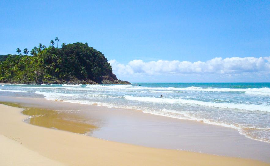 Desert, idyllic and tropical beach in Brazil