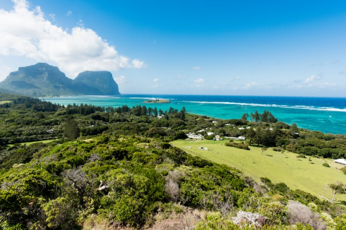 Looking out over Lord Howe Island Australia from Malabar hill
