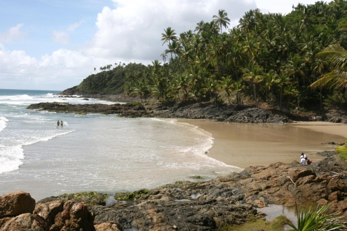 Itacare, Brazil - January 12, 2012: View Havaizinho beach in Itacaré (BA).