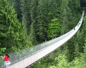 Capilano Suspension Bridge in North Vancouver