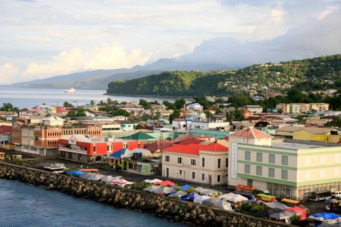 Roseau, Dominica, December 4, 2011. A panorama of Roseau, capital of Dominica.
