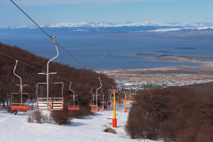 Ski lift in Ushuaia, Tierra del Fuego, Argentina
