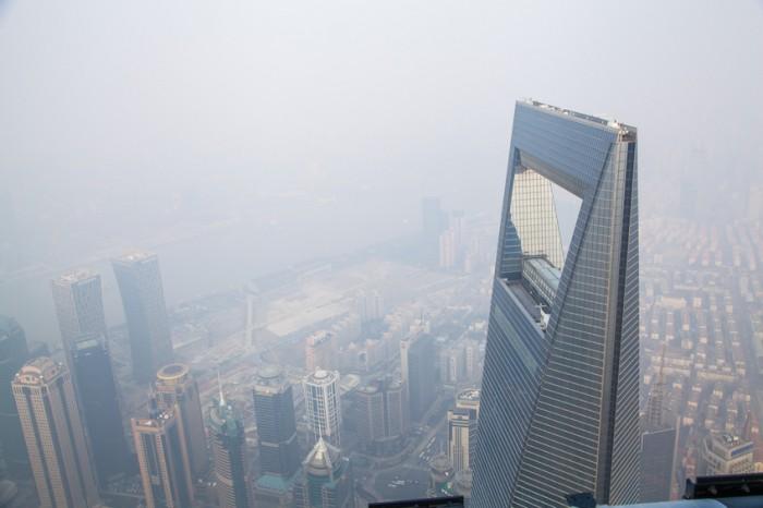 Shanghai Tower, 110 floor ?fog and haze