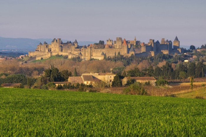 Carcassonne in southern  France