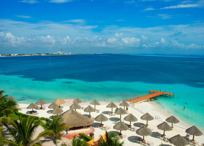 Taken in Cancun, Mexico, from a resort.