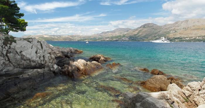 Cavtat peninsula shore, looking toward the north
