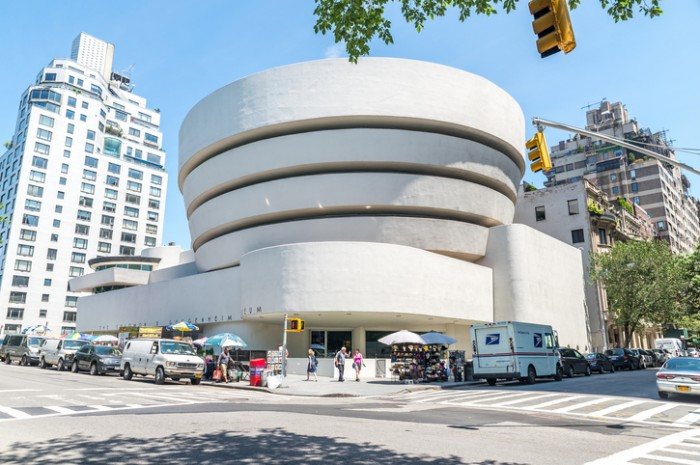 New York, USA - July 10, 2015: The famous Solomon R. Guggenheim Museum of modern and contemporary art