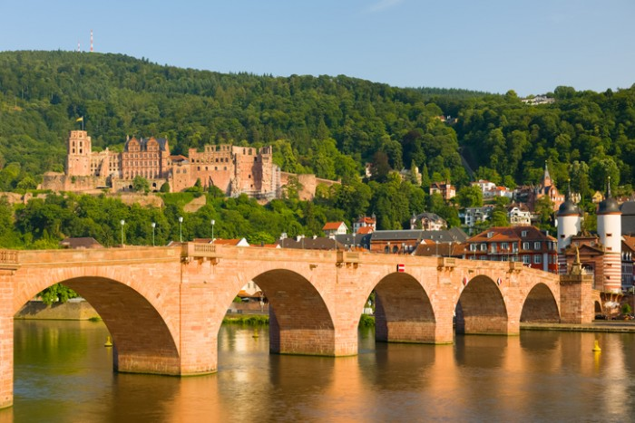 View of Heidelberg in a summer evening