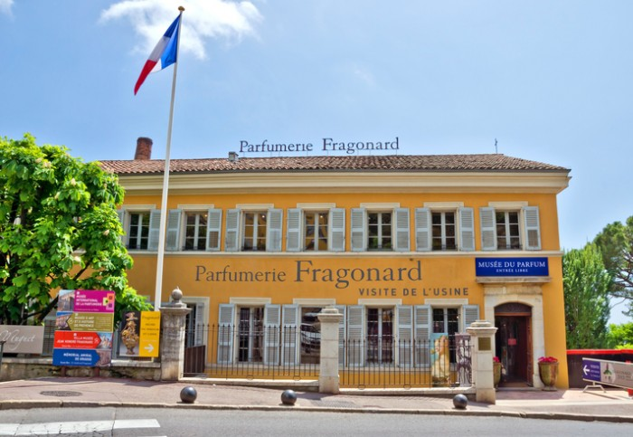 Grasse, France - May 3, 2013: Parfumerie Fragonard Museum and Factory. Fragonard perfumery is one of the older factory in the world capital of perfumes.