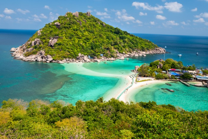 View point of Nang Yuan island of Koh Tao island Thailand
