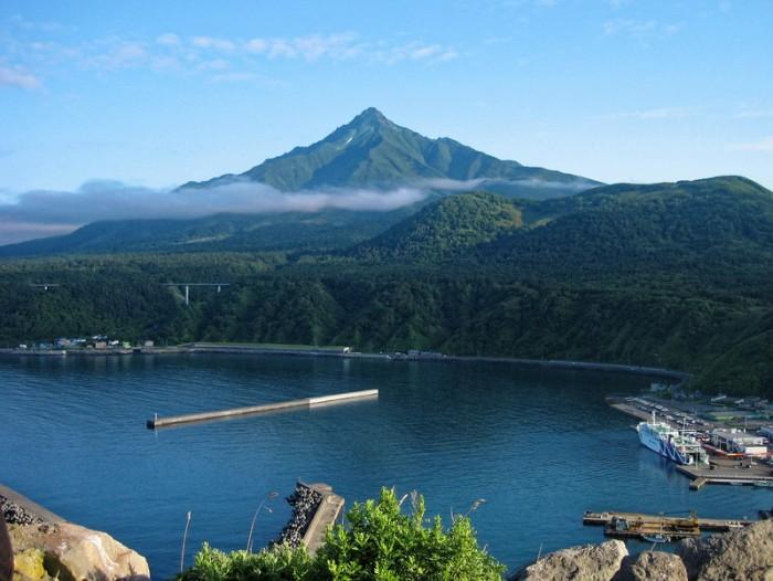 Mt. Rishiri-Fuji is beautiful mountain like Mt. Fiji where is Rishiri-island, Hokkaido in Japan.