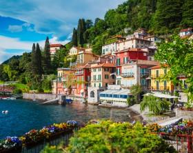 View of Varenna town at lake Como, Italy