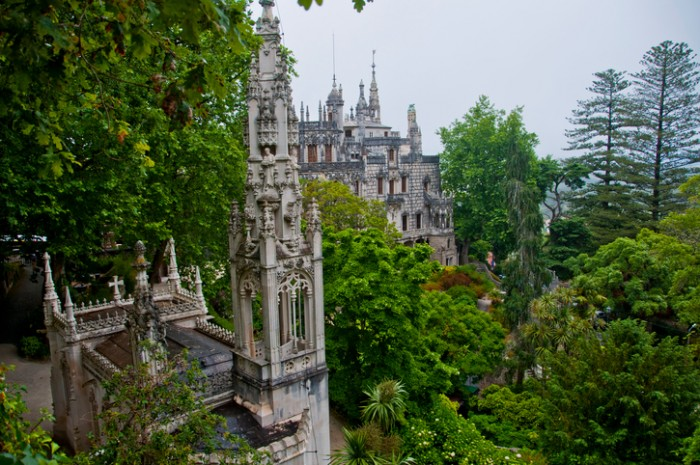 Sintra.Portugal - May 28, 2014: Regaleira Palace is situated in the historic center of Sintra and is classified as World Heritage by UNESCO.
