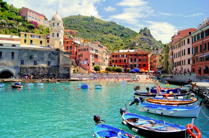 Colorful harbor at Vernazza, Cinque Terre, Italy
