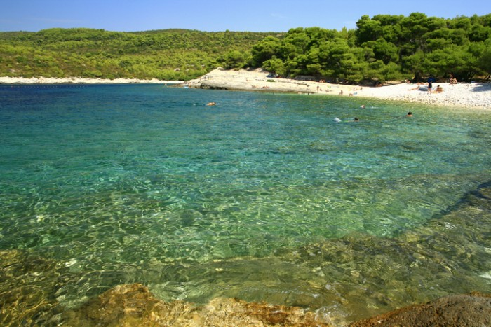 "Cove ""Srebrna"", Island Vis, Croatia."