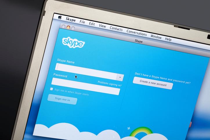 """""""Rome, Italy - August 24, 2012: Skype program on Laptop Screen"""""""