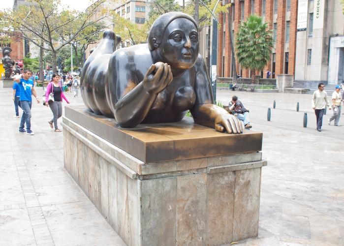 Statue's in the Botero Square, Medellin, Colombia