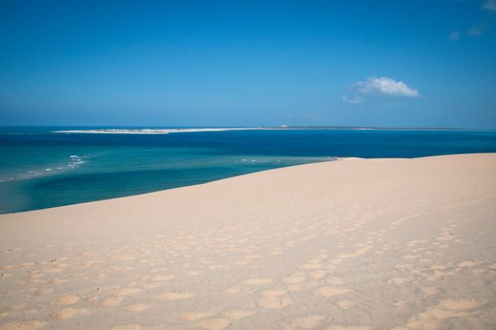 White beach on the Bazaruto Islands near Vilanculos in Mozambique
