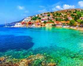 Assos beach in Kefalonia, Greece