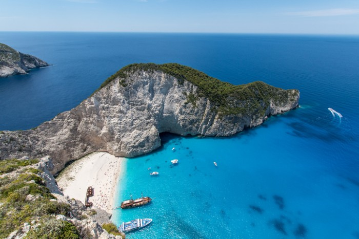 Navagio Beach, Zakynhtos, Greece