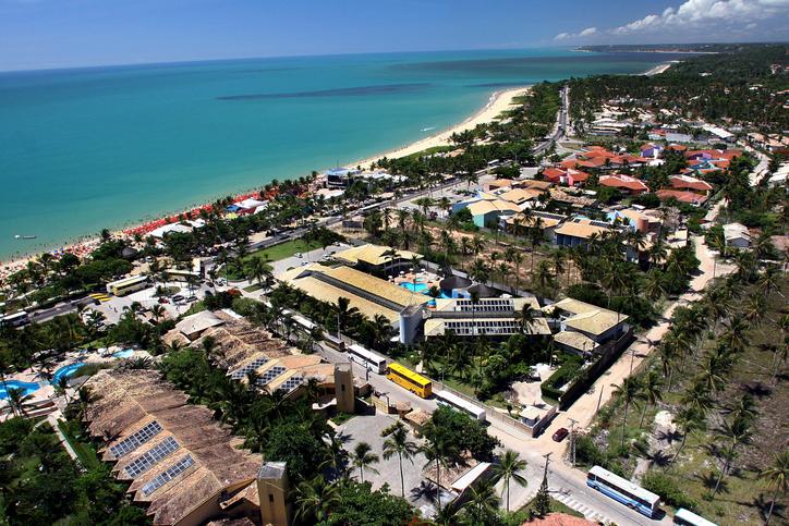 aerial view of porto seguro, bahia, brazil