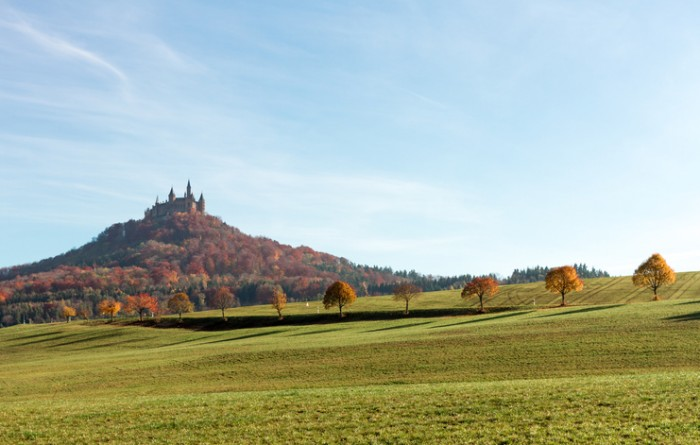 The castle Hohenzollern in Southern Germany.