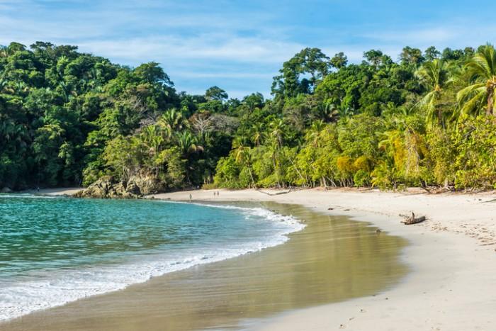 Manuel Antonio, National Park in Costa Rica - beautiful tropical beach at pacific coast
