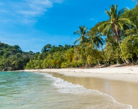 Manuel Antonio, National Park in Costa Rica - beautiful tropical beach at pacific coast