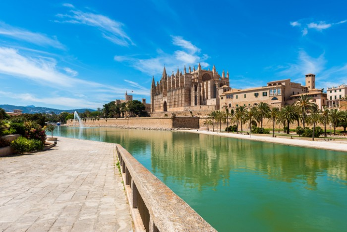 Cathedral of Palma de Mallorca, Mallorca, Balearic Islands, Spain.