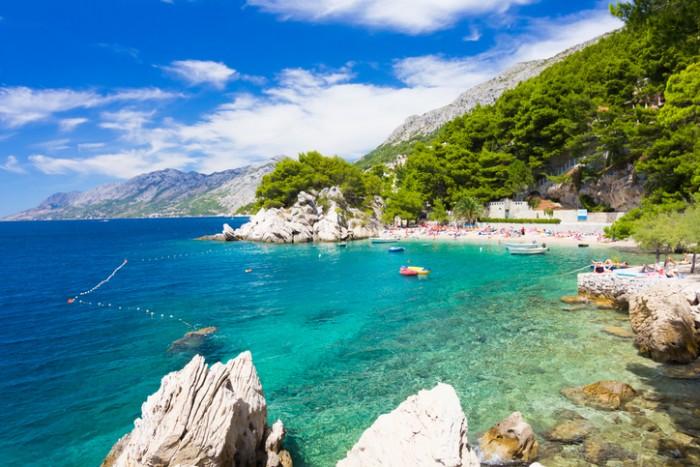 Amazing beach Punta Rata in Brela, Makarska Riviera, Dalmatia, Croatia