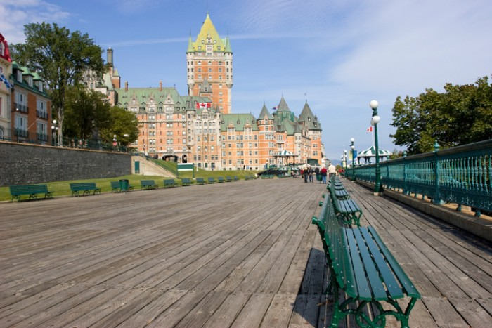 Chateau Frontenac and Dufferin Terrace in Quebec City