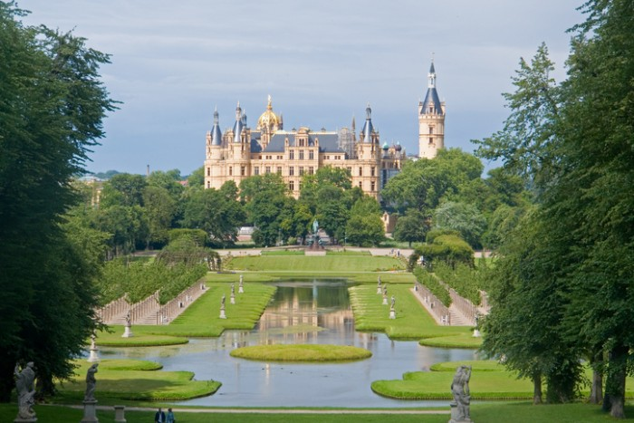 Castle in Schwerin, northern Germany