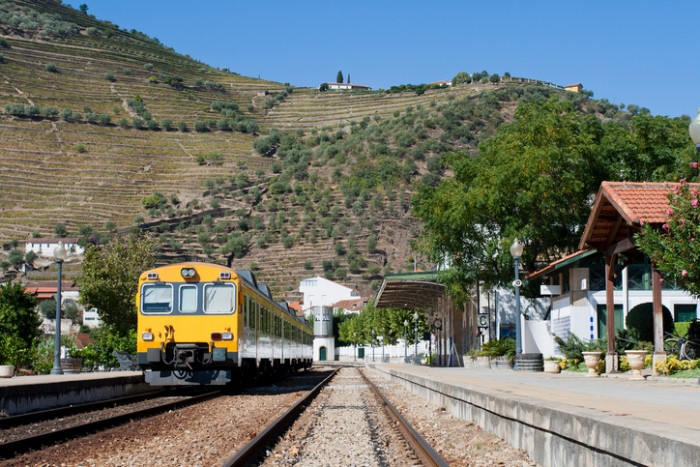 Pinh?o Railway Station in the Douro regain