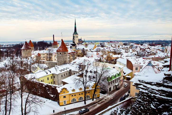 View of old city in Tallinn, Estonia