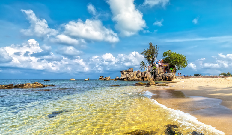 Phu Quoc Sea on sunny day,