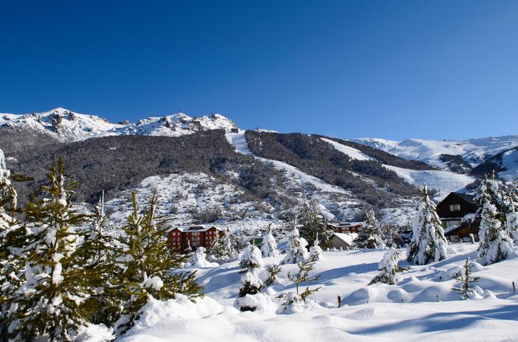 View of the ski resort, San Carlos de Bariloche, Patagonia, Argentina. Cerro Catedral.