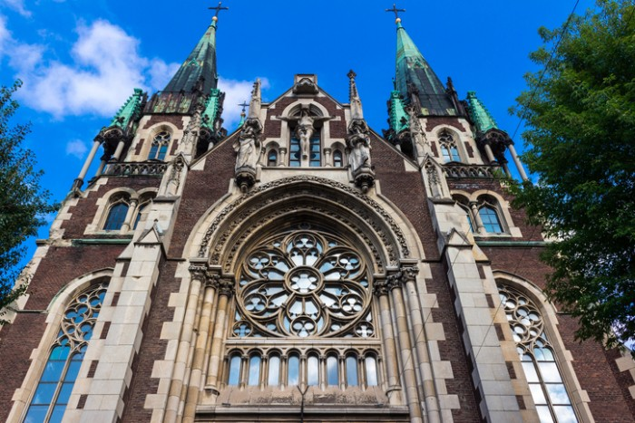 Cathedral of Saints Olga and Elizabeth. Lviv, Ukraine