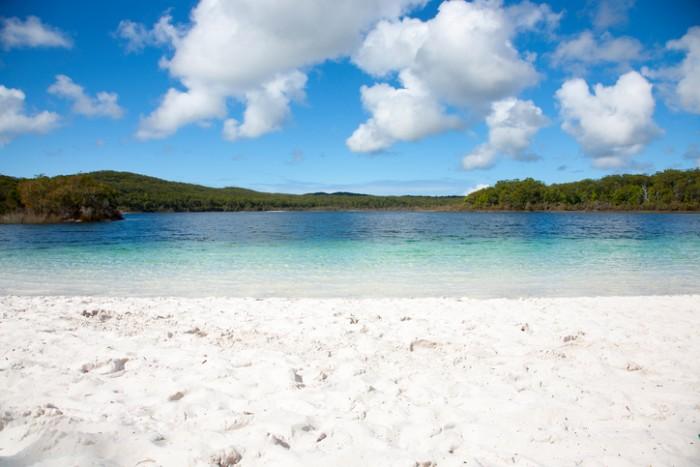 Lake McKenzie is a freshwater lake on Fraser Island in Queensland, Australia.