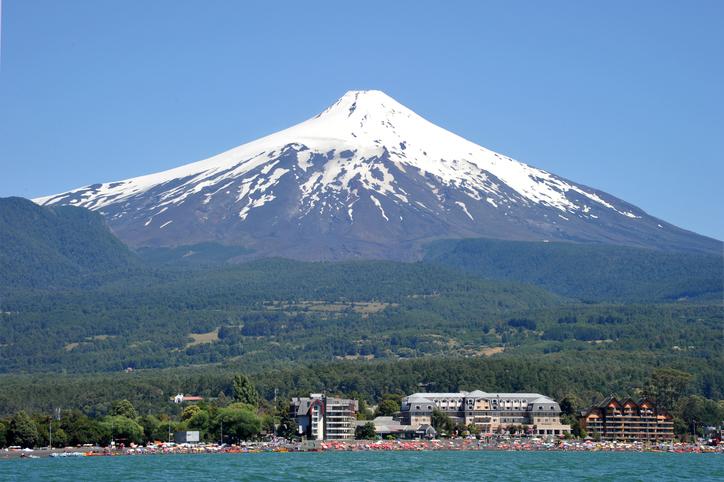 villarica volcano and beaches Pucon