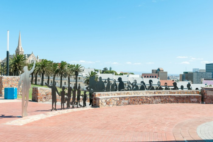 Port Elizabeth, South Africa - February 27, 2016: Art at Donkin Reserve along Route 67, consisting of 67 Public Art Works symbolising Nelson Mandelas 67 years dedicated to the Freedom of South Africa