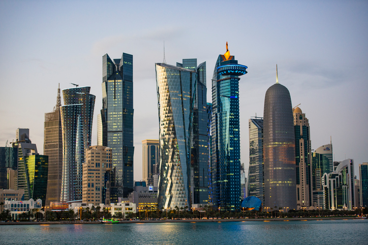 City Skyline and buildings  - Doha , Qatar