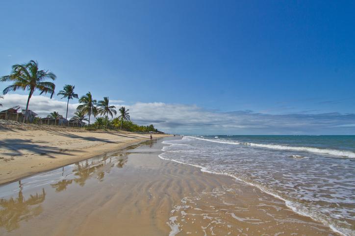Trancoso beach in Bahia, Brazil